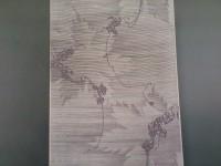 小紋 -蔓にシルエット葉ー